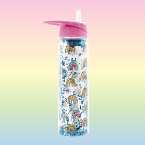 Rainbow & Hearts Water Bottle from iScream