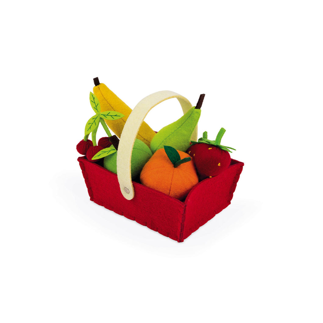 Janod Fabric Basket with 8 Fruits