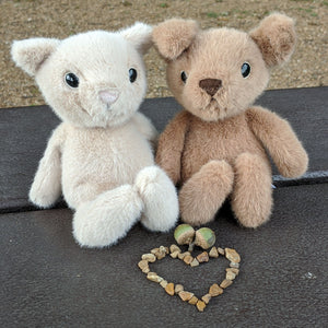 Fuzzles Kitten and Puppy from Jellycat