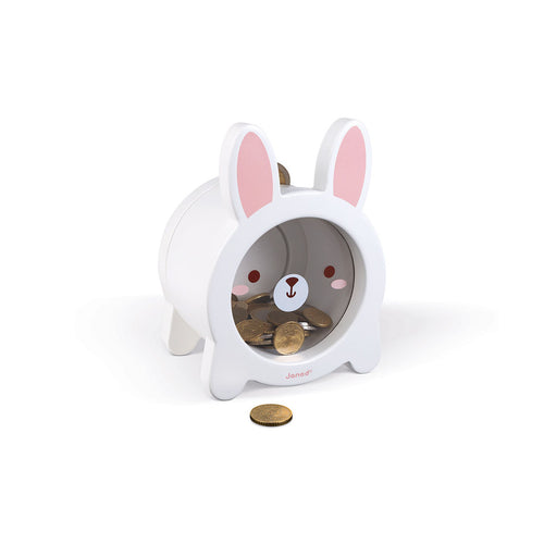 Janod Wooden Rabbit Moneybox