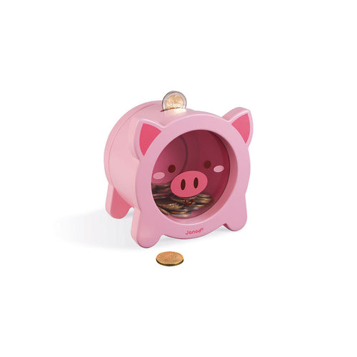 Janod Wooden Piggy Moneybox
