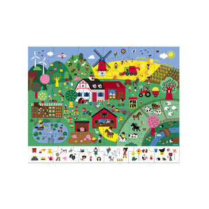 Janod Observation Puzzle - The Farm 24 Pc Jigsaw
