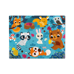 Janod Tactile Puzzle - Forest Animals 20 pc Jigsaw