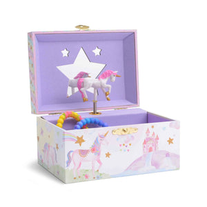 Rainbow Glitter Unicorn Musical Jewelry Box from Jewelkeepers