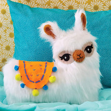 Load image into Gallery viewer, Sew Your Own Furry Llama Pillow from Klutz