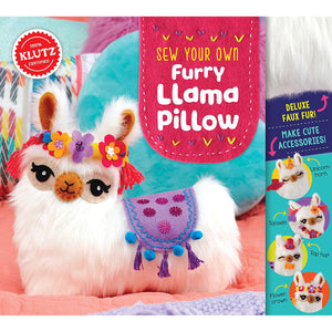 Sew Your Own Furry Llama Pillow from Klutz