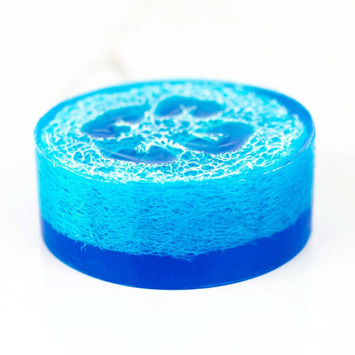 Blue Raspberry Slushie Luffa Soap