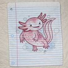 Load image into Gallery viewer, Axolotl Loose Leaf Baby Doodled Crinkle Sheet