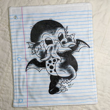 Load image into Gallery viewer, Baby Cthulhu Loose Leaf Baby Doodled Crinkle Sheets with art by Aidan Mohahan