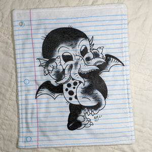 Baby Cthulhu Loose Leaf Baby Doodled Crinkle Sheets with art by Aidan Mohahan