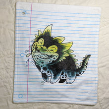 Load image into Gallery viewer, Happy Dog Monster Loose Leaf Baby Doodled Crinkle Sheets with art by Aidan Mohahan