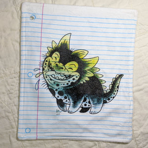 Happy Dog Monster Loose Leaf Baby Doodled Crinkle Sheets with art by Aidan Mohahan