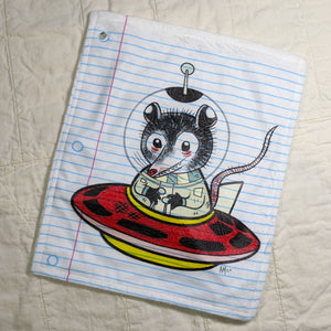 UFOpossom Loose Leaf Baby Doodled Crinkle Sheets with art by Aidan Mohahan