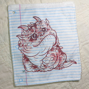 Worry Monster Loose Leaf Baby Doodled Crinkle Sheets with art by Aidan Mohahan
