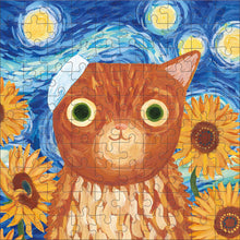 Load image into Gallery viewer, Artsy Cat - Vincent van Gogh - 100 pc Mudpuppy Jigsaw Puzzle