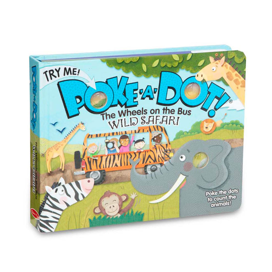 PokeaDot Book - Wheels on the Bus Wild Safari