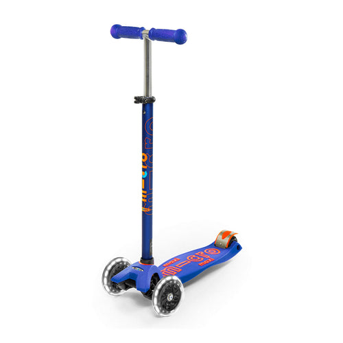 Maxi Deluxe Scooter with LED Wheels - Blue - From Micro Kickboard