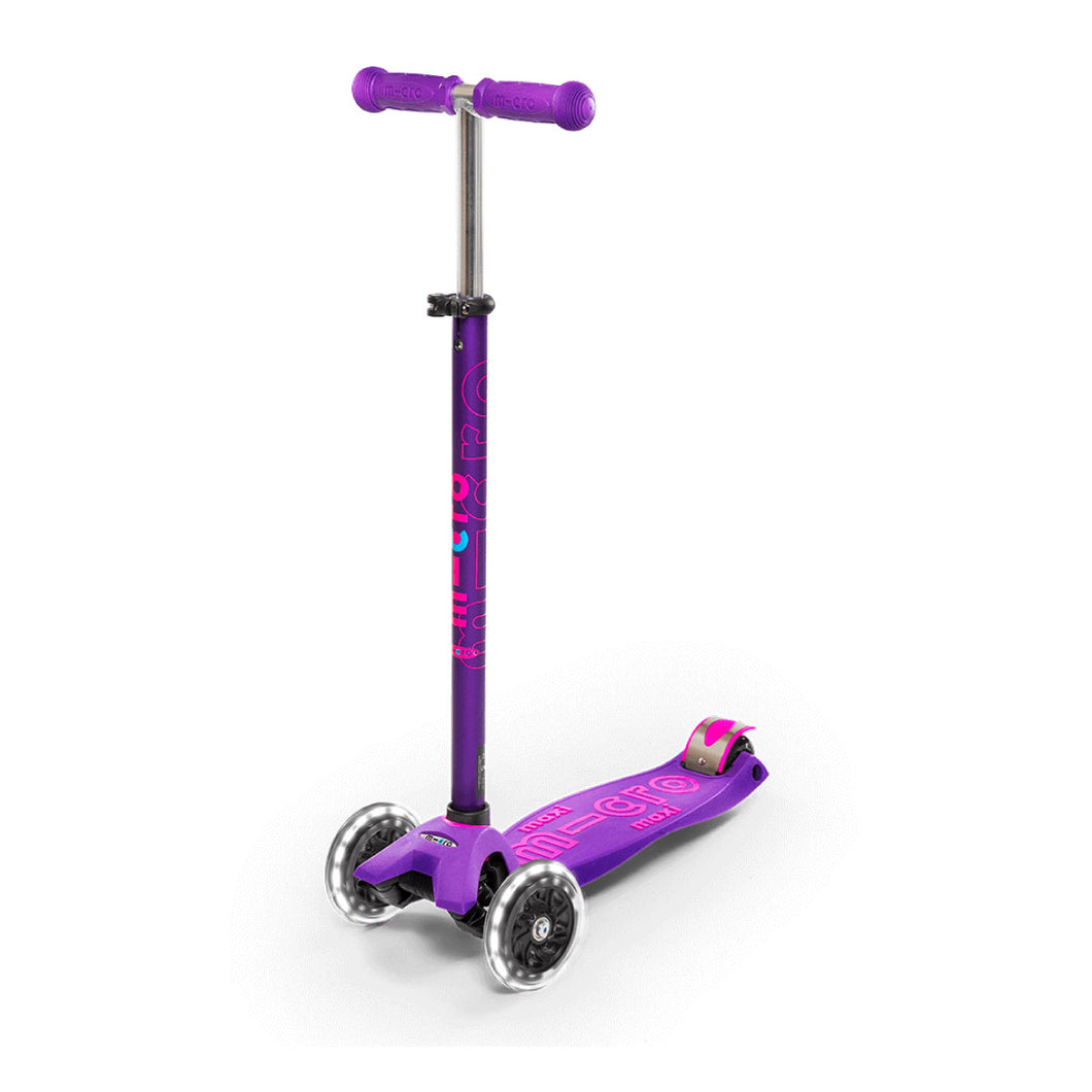 Maxi Deluxe Scooter LED Wheels - Purple - From Micro Kickboard