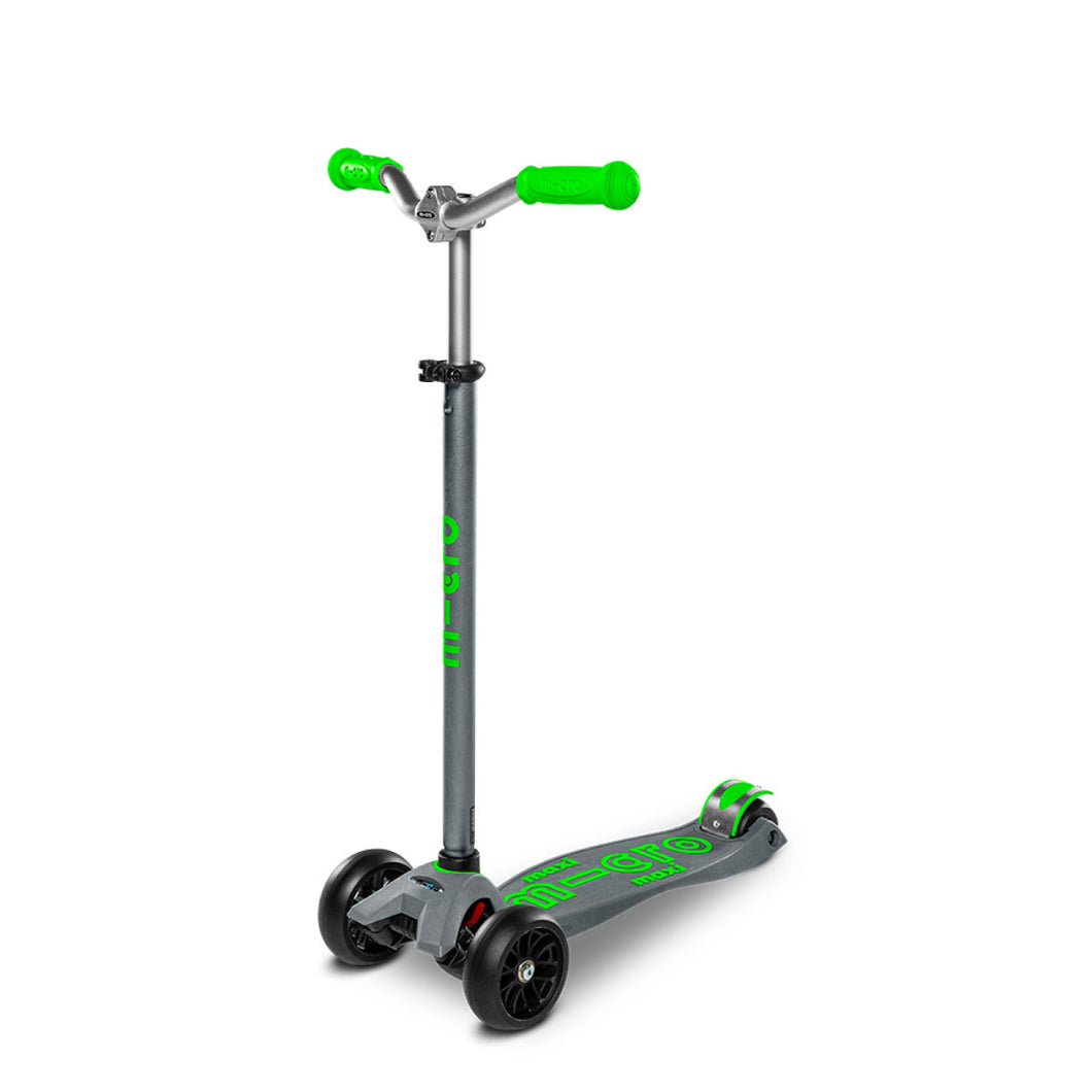 Maxi Deluxe Pro Scooter - Grey/Green - From Micro Kickboard