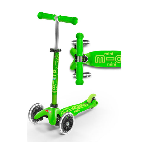 Mini Deluxe Scooter LED Wheels - Green - From Micro Kickboard