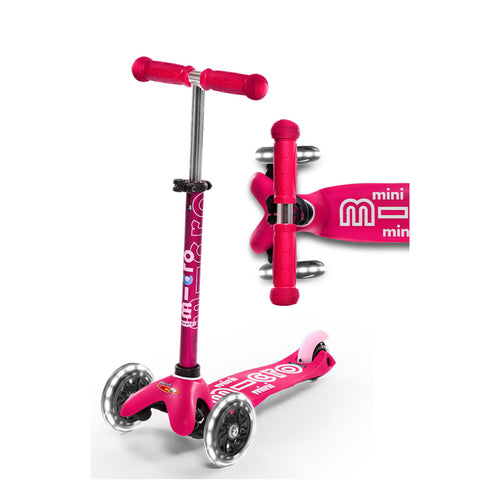 Mini Deluxe Scooter LED Wheels - Pink - From Micro Kickboard