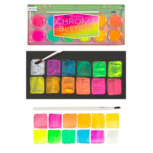 Chroma Blends Neon Watercolor Paints from Ooly
