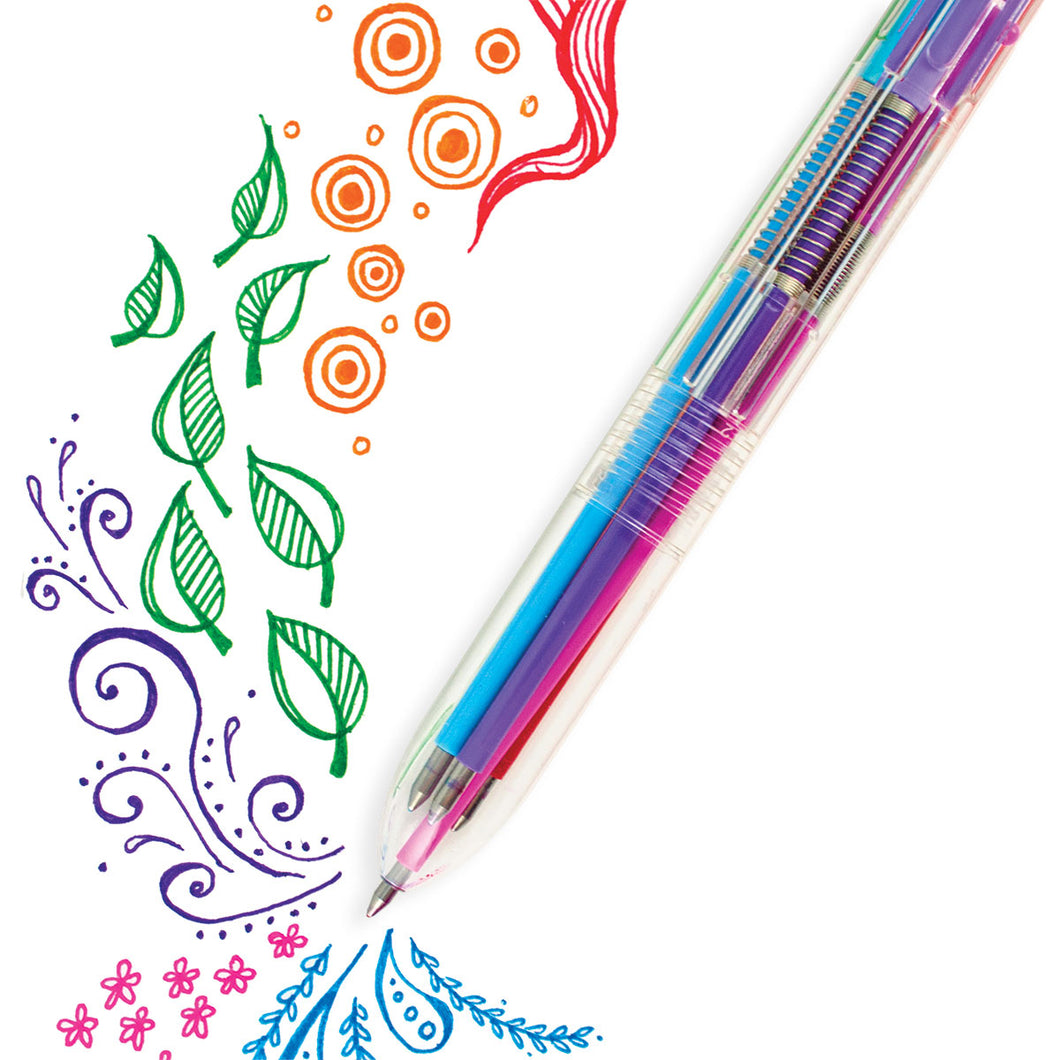 6 Click Multi Color Gel Pen from Ooly