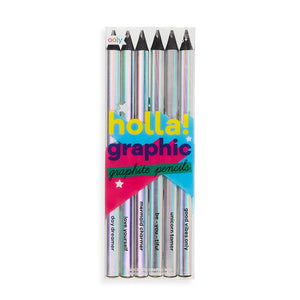 Holla Graphic Graphite Pencils from Ooly