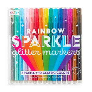 Rainbow Sparkle Glitter Markers from Ooly