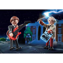 Load image into Gallery viewer, Back to the Future 1955 Marty McFly & Doc Brown Playmobil Figures