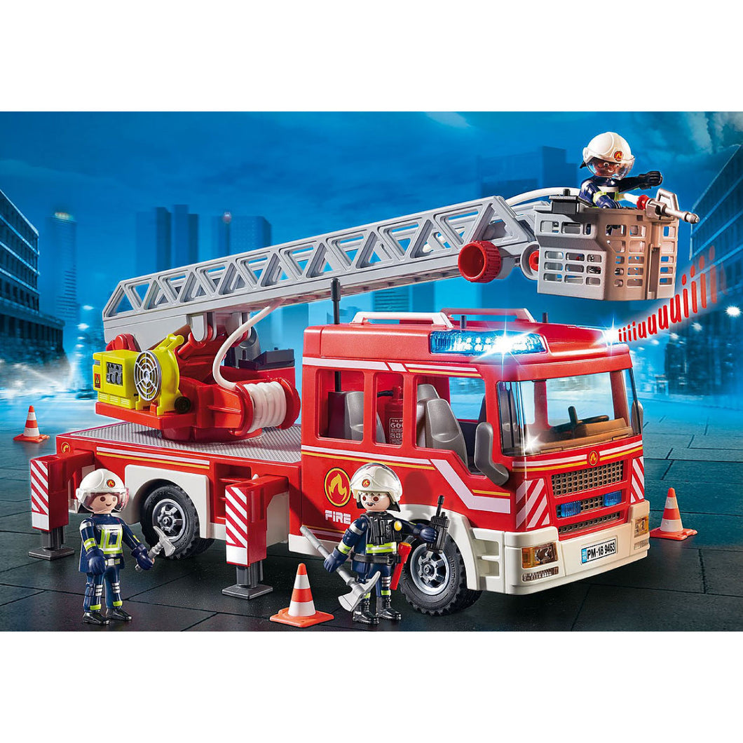 Fire Ladder Unit Firefighter Playmobil City Action Set