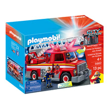 Load image into Gallery viewer, Rescue Ladder Unit Firefighter Playmobil City Action Set