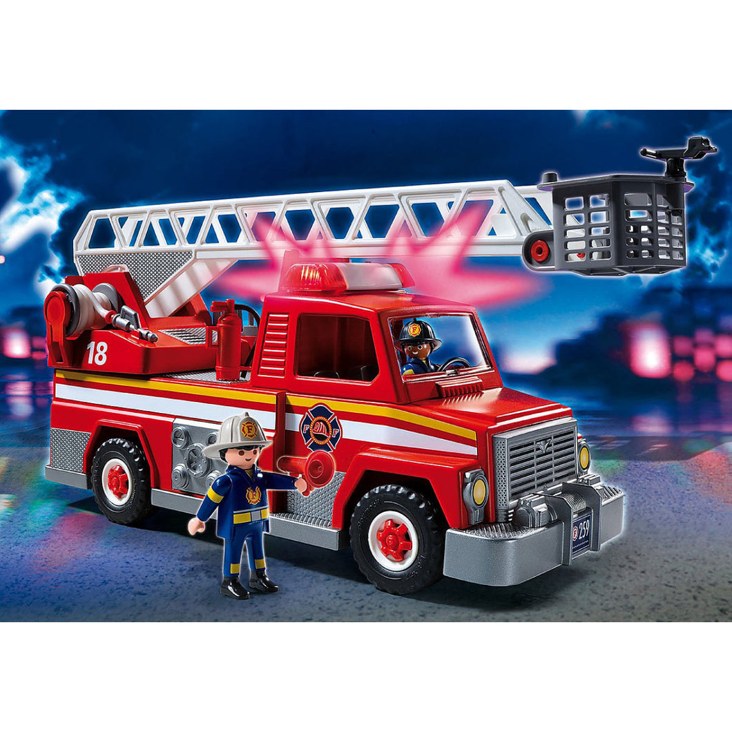 Rescue Ladder Unit Firefighter Playmobil City Action Set