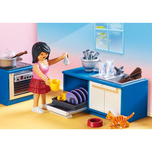 Family Kitchen Playmobil Dollhouse Set