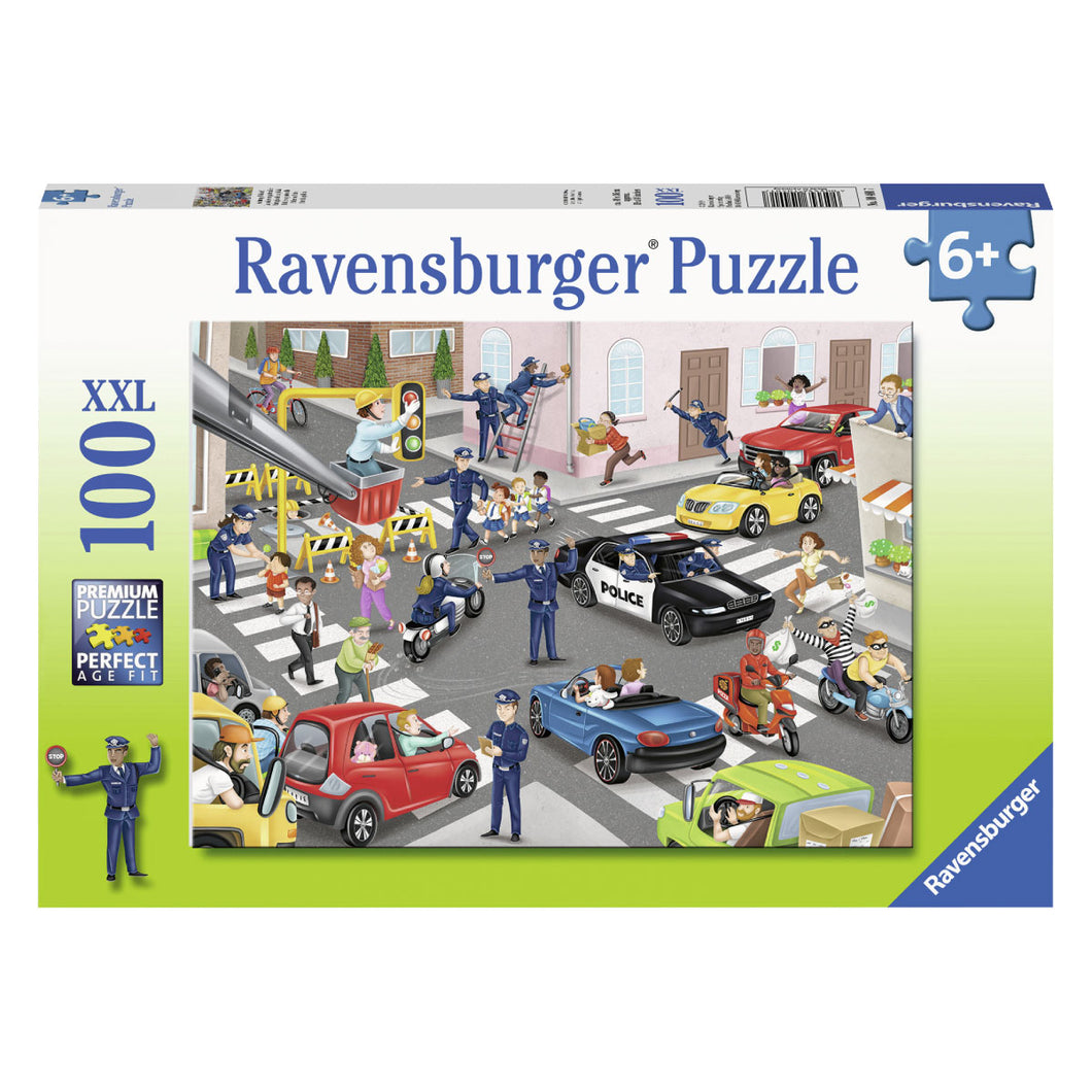 Police on Patrol 100pc XXL Jigsaw Puzzle from Ravensburger