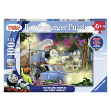 Load image into Gallery viewer, Thomas the Tank Engine: Traveling Thomas 100 pc XXL Jigsaw Puzzle from Ravensburger