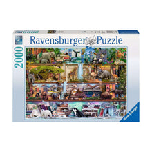 Load image into Gallery viewer, Wild Kingdom Shelves - 2000 pc Ravensburger Jigsaw Puzzle