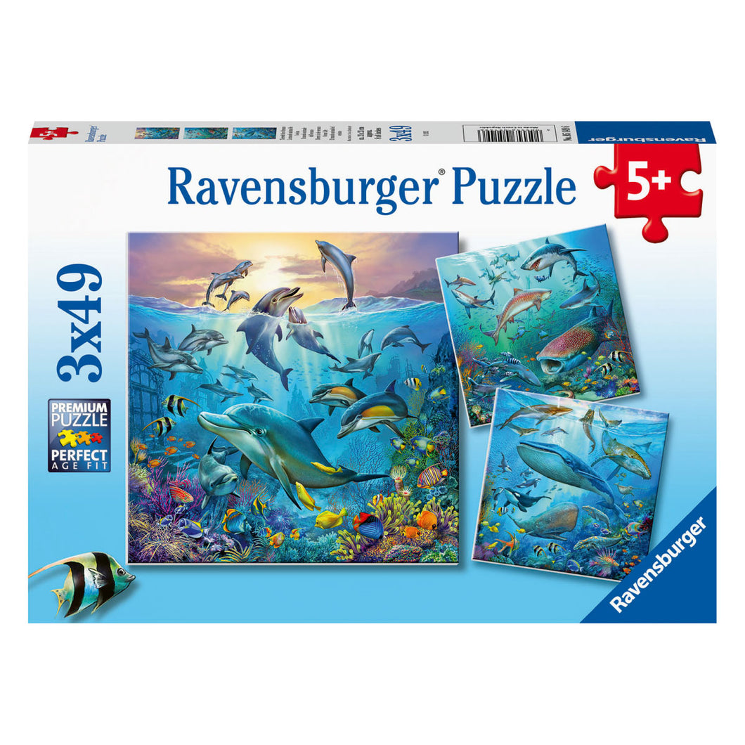 Ocean Life 3 x 49pc Jigsaw Puzzles from Ravensburger