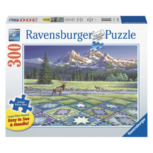 Load image into Gallery viewer, Mountain Quiltscape - 300 pc Larger Pieces Jigsaw