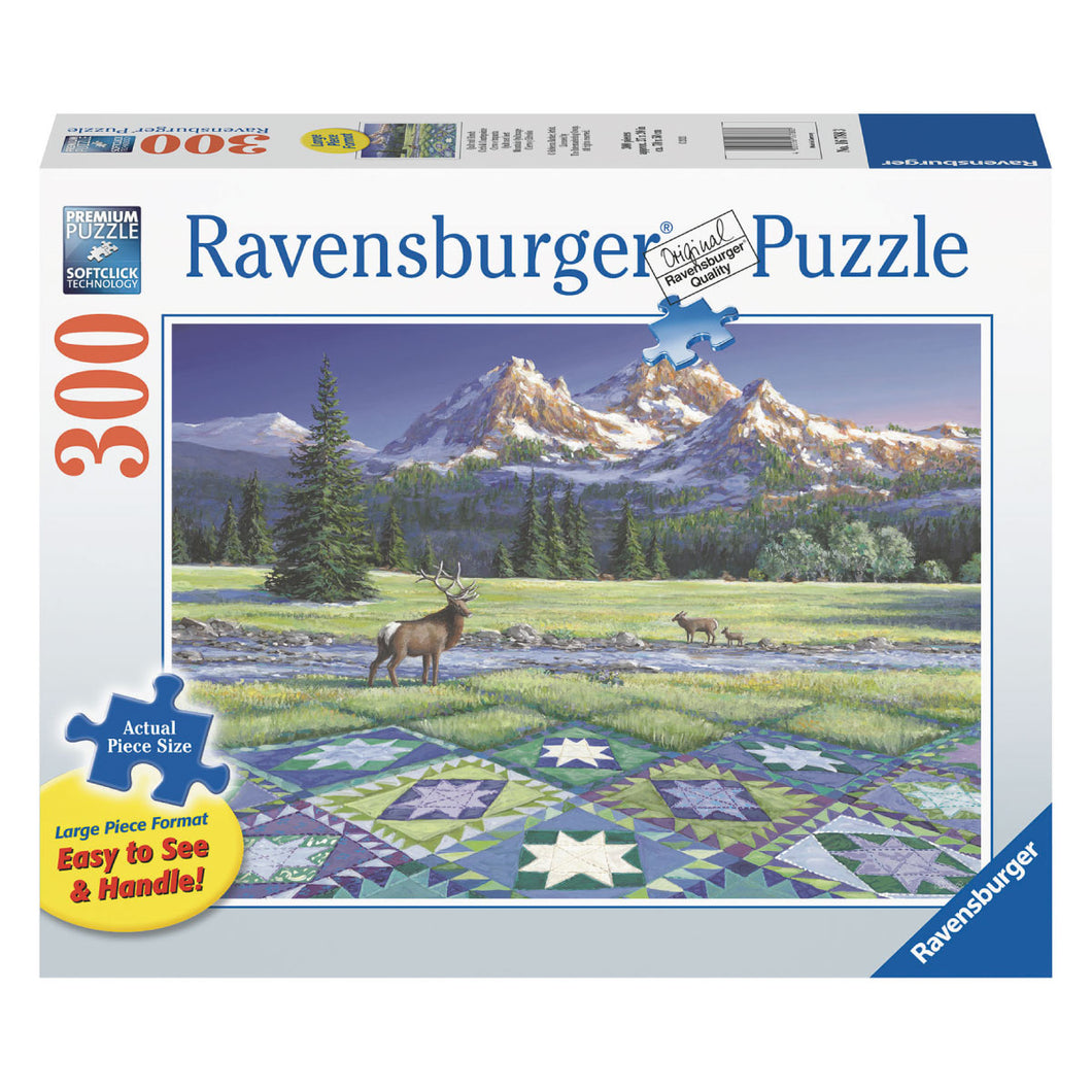 Mountain Quiltscape - 300 pc Larger Pieces Jigsaw