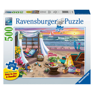 Cabana Retreat - 500 pc Larger Pieces Jigsaw