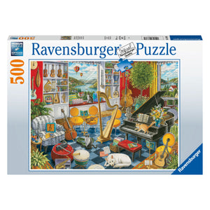 The Music Room - 500 pc Larger Pieces Jigsaw