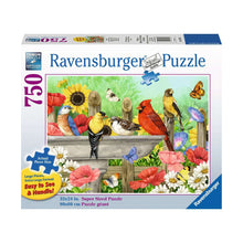 Load image into Gallery viewer, Bathing Birds - 750 pc Larger Pieces Ravensburger Jigsaw Puzzle