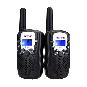Retevis Kid's Walkie Talkies with Flashlight in Black