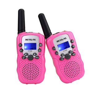 Retevis Kid's Walkie Talkies with Flashlight in Pink
