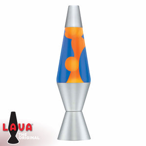 "Orange Wax + Blue Liquid 14.5"" Lava Lamps"