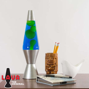 "White Wax + Colored Liquid 14.5"" Lava Lamps"