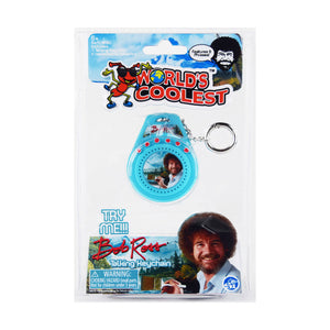 World's Coolest Bob Ross Keychain