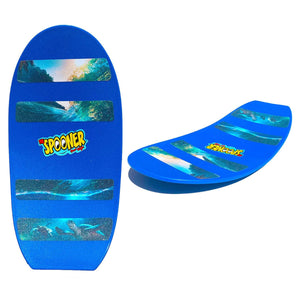 Freestyle Spooner Board - Blue with Scenery Grip Tape