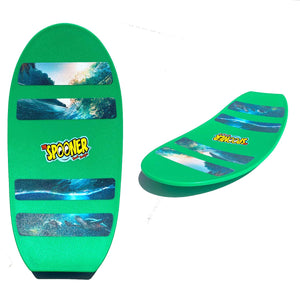 Freestyle Spooner Board - Green with Scenery Grip Tape